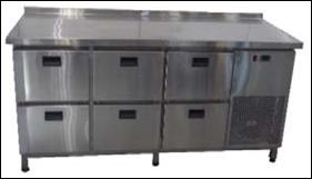 Стол холодильный Tehma 6 ящиков